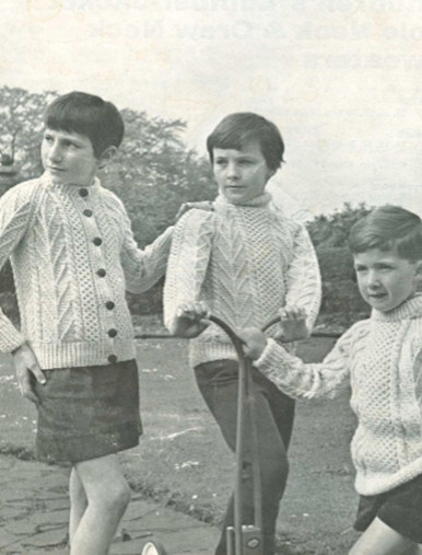 Children's Cardigan, Polo and Crew Neck Vintage Sweaters