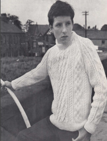 Children's Vintage Crew Neck Diamond Sweater