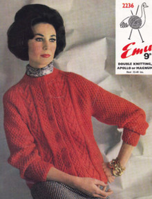 Vintage Ladies Colored Aran Jacket