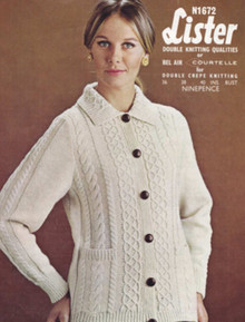 Ladies Vintage Collar Cardigan with Pockets
