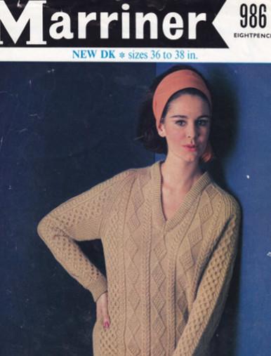 Ladies V-Neck Diamond Sweater