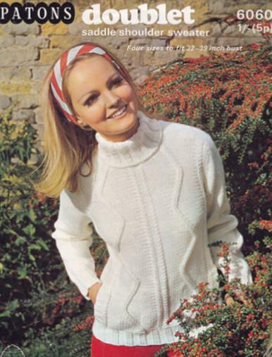 Ladies Vintage Saddle Polo Neck Sweater