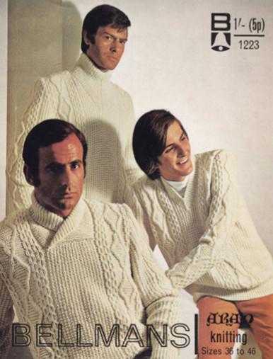 Vintage Men's Three in Aran Sweaters