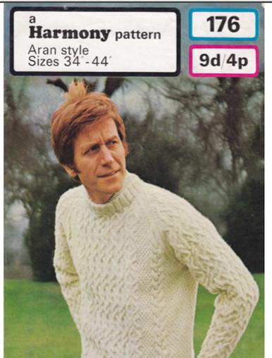 Vintage Mens Large Crew Neck Sweater