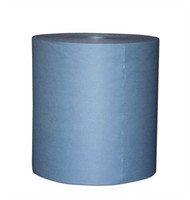 "Blue Spunlace Jumbo Roll smooth 12"" x 14"""