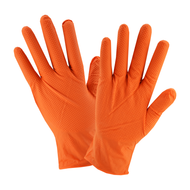 NITRILE ORANGE 7 ML PREMIUM GLOVE 100 PAIR PER BOX 10 BOXES PER CASE