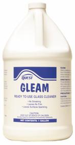 GLASS CLEANER GLEAM BLUE NON AMMONIA 1 GALLON 4  PER CASE