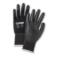 BLACK PU COATED NYLON GLOVE 12 PAIR PER CASE