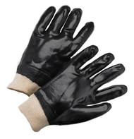 BLACK PVC KW SMOOTH GLOVE 12 PAIR PER CASE