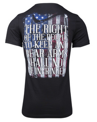 Glock 2nd Amendment Flag T-Shirt Black