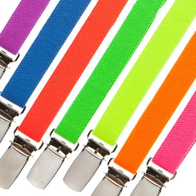 Variety of neon suspenders