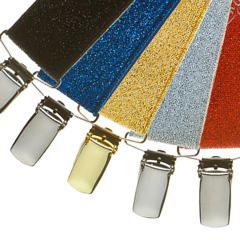 Variety of glitter suspenders