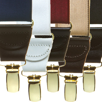 Variety of leather suspenders