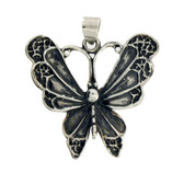 Sterling silver Butterfly pendant.