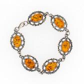 Sterling silver Amber bracelet.