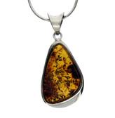 Golden brown Amber pendant.