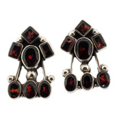 Garnet silver earrings.