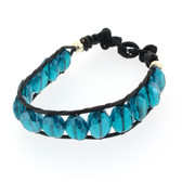 Blue Quartz beaded stretch bracelet.