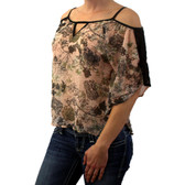 Blush women's Georgette shirt by Angie.