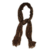 Brown leopard scarf.