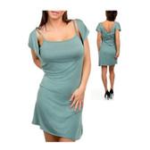 Green dress.