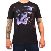 Franky by Mike Bell Men's Black Tee Shirt Tattoo Art Frankenstein Monster