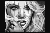 Love At First Laugh by Charlie Medina Tattoo Art Print Clown Face Sexy Woman