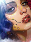 Into the Light by Daniel Esparza Tattoo Art Print  Day of the Dead Sugar Skull