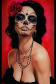 Isabella Muerte by Daniel Esparza Tattoo Art Print  Day of the Dead Sugar Skull