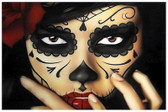Priscila by Daniel Esparza Tattoo Art Print  Day of the Dead Mexican Sugar Skull