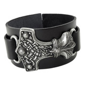 Alchemy Gothic Thunder Hammer Leather Bracelet Cuff A98