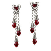 Alchemy Gothic E272 Bleeding Heart Earrings
