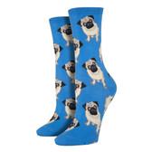 Women's Crew Socks - Pugs