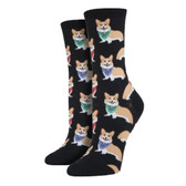 Women's Crew Socks - Corgi