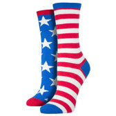 Socksmith Women's American Flag Socks Blue