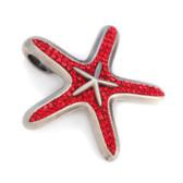 BICO Pacific Jewelry Swarovski Crystal Pewter Pendant Starfish OCEAN CELESTE PV8