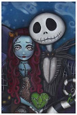 This Is True Love by Abril Andrade Fine Art Print Jack Skellington