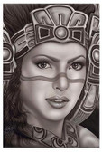 Aztec Princess by Big Ceeze Fine Art Print