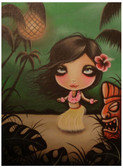Hula Party by Candy Cane Fine Art Print