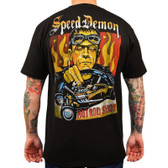 Speed Demon by Mike Bell Men's Black Shirt Tattoo Art Hot Rod Frankenstein