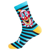 Men's or Women's Evil Clown Striped Crew Sock