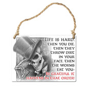 Life Is Hard Metal Hanging Sign Home Decor
