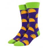 Men's Taco Novelty Crew Socks