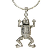 Frog sterling silver pendant.