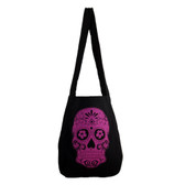 Pink Day of the Dead skull bag.