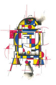 Droid by HEK Star Wars Movie R2-D2 R2D2 Character Robot Fine Art Print