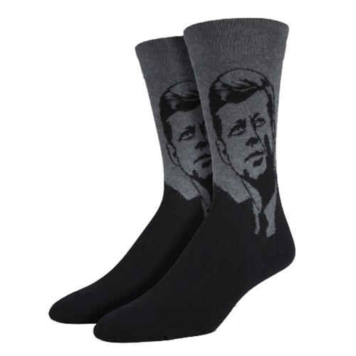 Socksmith Men's Crew Socks President JFK John F Kennedy