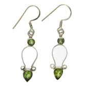 Sterling silver Peridot earrings.