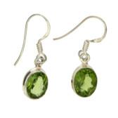 Peridot sterling silver earrings.
