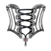 Alchemy Gothic A112 Tight Lace Corset Bangle Bracelet